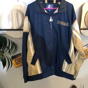 Vintage 80's NotreDame starter jacket L